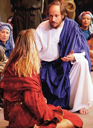 Jesus spoke to the crowds about the kingdom of God, and healed those who needed to be cured. - Luke 9.11