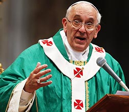 The next day, the pope celebrated Mass with the group in St. Peter's Basilica.
