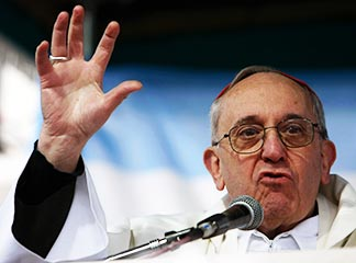 Pope Francis, shown in his days as archbishop of Buenos Aires, was never seen as friendly to liberation theology.