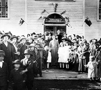 Holy Rosary parishioners gather for the first celebration of confirmation in 1922.