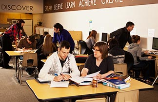 Teachers and students are able to work one-on-one to enable student progress at STAR Outreach School in Leduc.