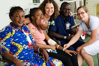 Grace will have a tumour removed from her mouth thanks to the Mercy Ship 'crew.' The Mercy Ships Network is recruiting students to help raise funds and awareness for its charity