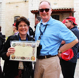 Tracy and Michael Edmonds renewed wedding vows at Cana in Galilee.