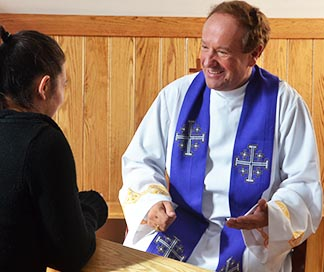 Fr. Jan Sobkowicz, pastor of Holy Trinity Parish in Stony Plain and Spruce Grove, heard confessions for 12 hours with only a short break.