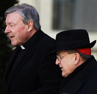 Cardinals George Pell and Raymond Burke are among the main protagonists in the controversy over whether divorced and civilly remarried Catholics should be allowed to receive Communion.