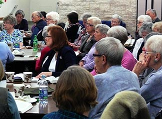More than 50 people attended the October meeting of Seniors of the Basilica