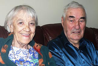 Edith and Ken Nixon (above) and Pauline and Lionel Lemieux (below) recently celebrated their 70th wedding anniversaries.