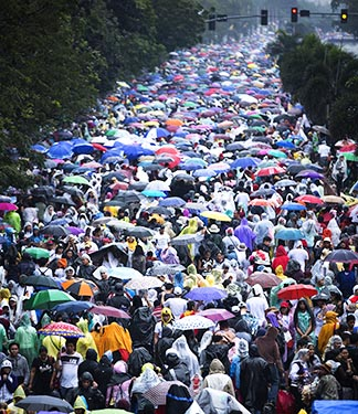 Millions of people flocked to the papal Mass in Manila, Philippines, Jan. 18.