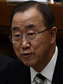 UN Secretary-General Ban Ki-moon speaks at an April 28 Vatican summit on the moral dimensions of climate change.