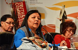 Survivors of Indian residential schools spoke to the Truth and Reconciliation Commission.