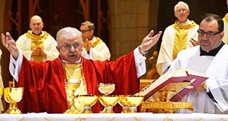 Calgary Bishop Frederick Henry was the main celebrant at the Mass for Life at St. Joseph's Basilica.