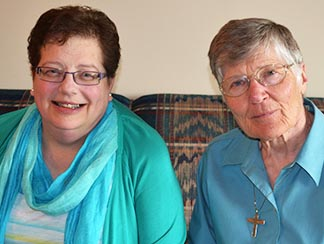 Srs. Patricia Kaliciak and Gertrude Sopracolle are members of the Ursuline Sisters of Prelate.