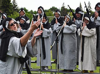 Grey Nuns impersonators delighted their audience with a Sister-Act-like performance.