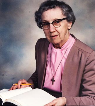 Sr. Cécile Dupuis, a Filles de Jesus, served as archdiocesan archivist for 20 years.