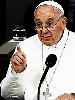 The United States Congress listened as Pope Francis told them to realize the desperate refugees were pople, not numbers.