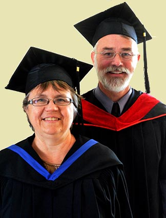 Dorothy Burns and Patrick Mayo both overcame struggles to complete their respective Newman Theological College degrees.