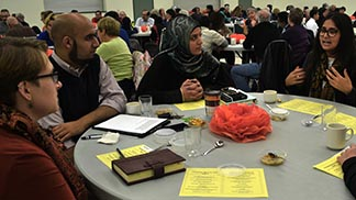 Muslims and Christians gathered Oct. 17 to share faith stories, create understanding.