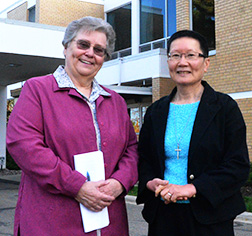 Srs. Mary Lee Gordon and Christina Wong each help run Providence Centre
