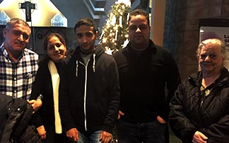This Iraqi family, including Luay Majeed, left, his wife Huda Saleem, her mother Badriy Peter and their three sons Waseem, Weam and Basamn (not pictured), came to Edmonton in November.