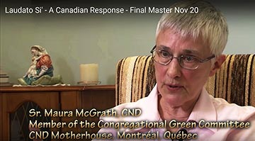 Sr. Maura McGrath was one of the religious backing the Canadian response to Pope Francis' encyclical On Care for Our Common Home.