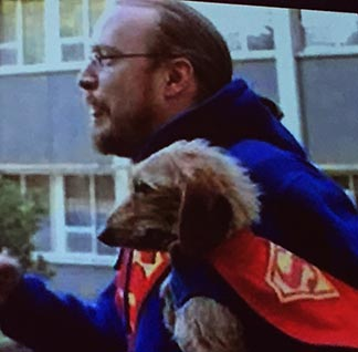 The late Fr. Mireau and his dog Nemo made an appearance on the big screen during the Feb. 1 event at the Shaw Conference Centre.