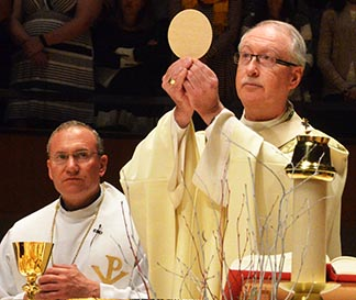 The Eucharist is a sign of the Catholic Church's reverence for the human body.