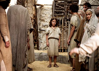 Adam Greaves-Neal stars in a scene from the movie The Young Messiah.
