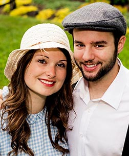 Pilgrims Noëlle Schoenberger and Nathan Pottle will be married in May before heading off to World Youth Day together.