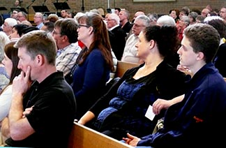 Catholics in Lloydminster paid rapt attention at the very first Every Life Matters session April 3.