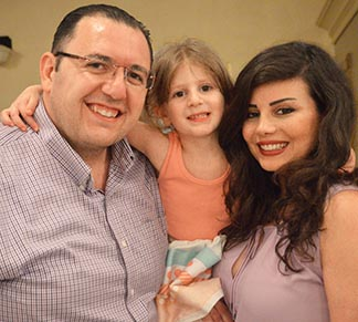 Pascal Zafar, his wife Matilda Alber and their daughter Selena fled Syria after a series of bombings and kidnappings.